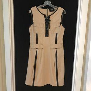 D&G Dolce & Gabbana Safari Dress Lace Up Khaki 8